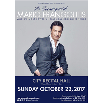 An Evening with Mario Frangoulis @ Sydney