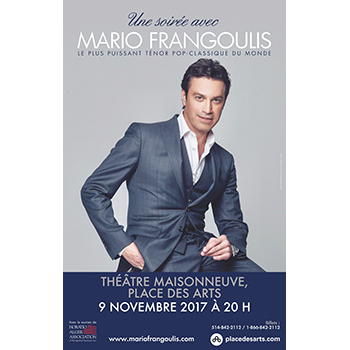 An Evening with Mario Frangoulis @ Montreal