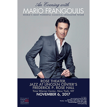 An Evening with Mario Frangoulis @ New York